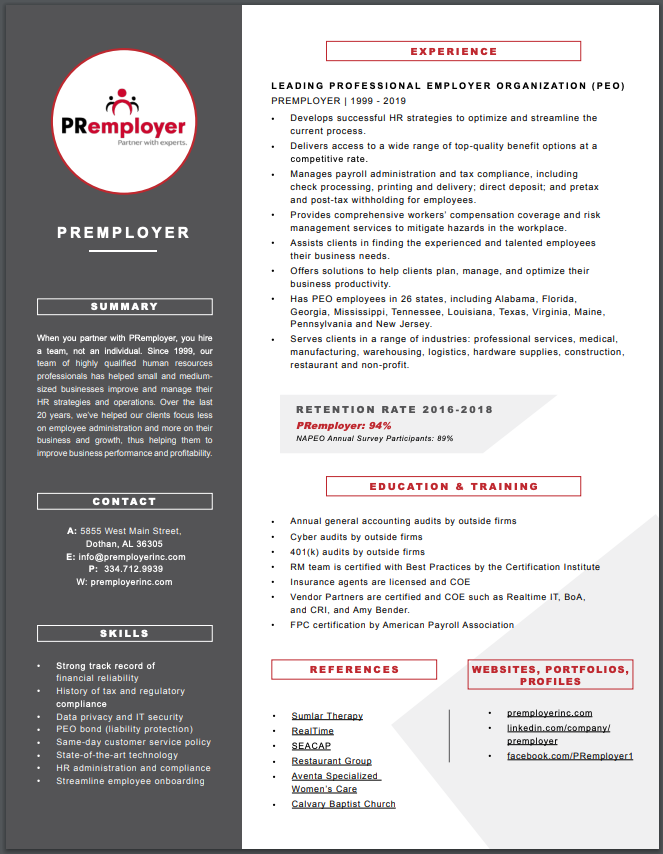 IMAGE PR company resume